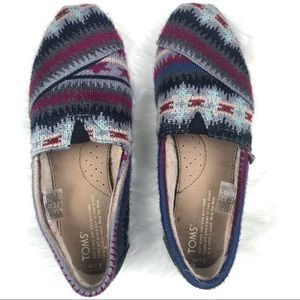 TOMS fleece lined shoes.